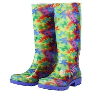 Shoes - Free Spirit Piece of the Puzzle Rain boots